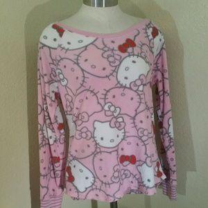 Fleece hello kitty shirt